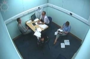 watch murderer michael stirling being quizzed by police a day after samantha eastwood's body was found