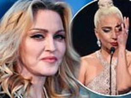 madonna reignites lady gaga feud as she accuses a star is born actress of stealing her quote