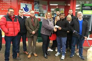 community pays for repairs to scartho shop - with enough left over for a christmas treat