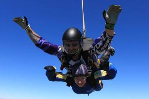 'That was amazing' - Watch popular midwife Samantha Eastwood jump out of plane for charity - just four weeks before she was murdered