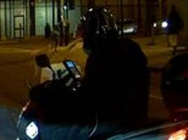 Learner scooter driver caught watching a YouTube video on his phone at London junction