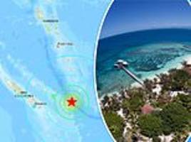 new caledonia: 7.6-magnitude earthquake strikes in the pacific ocean east of australia