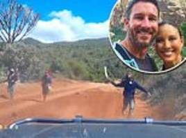 Terrifying moment American couple narrowly escapes machete-wielding bandits on rural road in Kenya