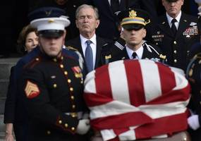 Thousands Gather To Attend Funeral For 41st President Of The United States George HW Bush