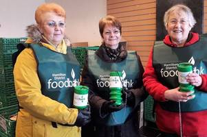 kind hearted shoppers dig deep to help hamilton foodbank
