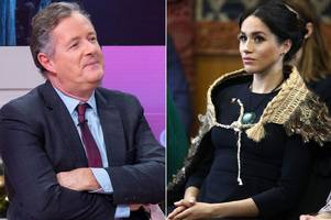 meghan markle's a 'self-obsessed social climber who's trying to play the royals,' claims piers morgan