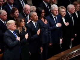 Past and present presidents pay respects to George HW Bush