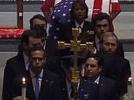 george h.w. bush's eight grandsons serve as pallbearers at his houston funeral