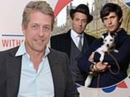 hugh grant celebrates golden globe nomination for a very english scandal