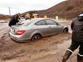 malibu is hit by huge mudslides as it pours rain just weeks after deadly fire
