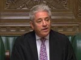 Tensions mount between ministers and Speaker John Bercow