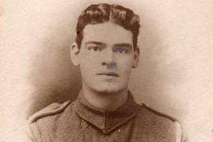 sherwood forester's life saved by german soldier as he lay injured on somme battlefield