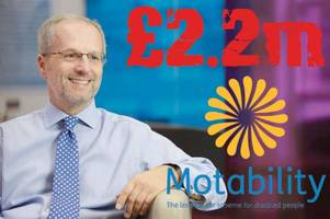 outrage as ceo of taxpayer-supported motability firm in line for £2m bonus