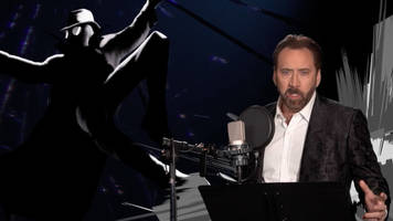 b-roll of nicolas cage recording into the spider-verse should win an oscar