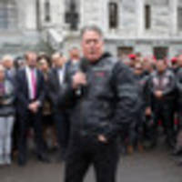 Brian Tamaki and about 2000 Destiny Church faithful gathered outside Parliament