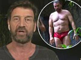 i'm a celebrity: nick knowles shows off his two stone weight loss