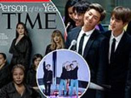 Korean boy band BTS beats Planet Earth to top the online Reader's Poll for TIME Person of the Year