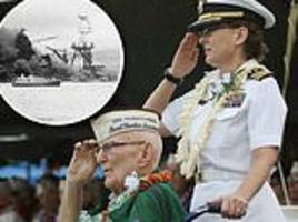 pearl harbor survivors gather in hawaii to commemorate lives lost in attack 77 years ago