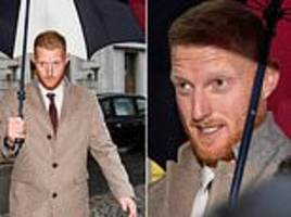 ben stokes and alex hales arrive for ecb disciplinary hearing as england duo await punishment