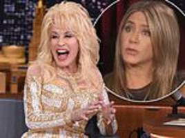 dolly parton reveals more details about her husband's crush on jennifer aniston