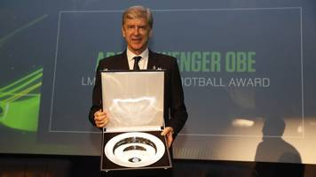 Arsene Wenger: Former Arsenal boss honoured by League Managers Association