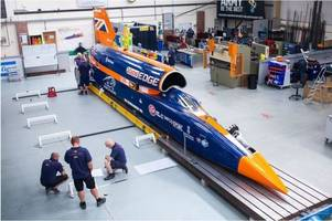 bloodhound supersonic car project axed following tests in cornwall