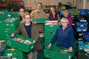 a really crate effort for festive haul at perth and kinross foodbank