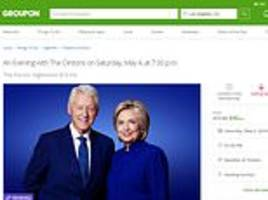 bill and hillary clinton resort to using groupon to generate ticket sales