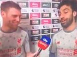 mo salah refuses man of the match award after bagging hat-trick and hands it to james milner