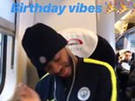 Raheem Sterling enjoys 'birthday vibes' as Man City star travels to London