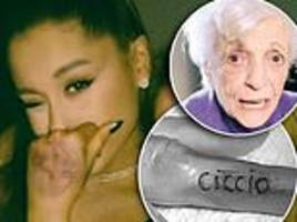 Ariana Grande's grandmother Nonna, 93, gets a tattoo on her finger