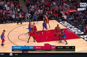 highlights: paul george finds jerami grant for dunk