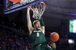 Kyle Ahrens' late dunk helps No. 9 Michigan State hold off Florida