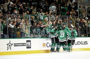 Heiskanen, Ritchie score in 3rd, Stars beat Sharks 3-2
