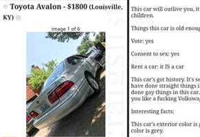 This Craigslist Ad For A Toyota Avalon Doesn't Care What You Want, It Knows You What You Need