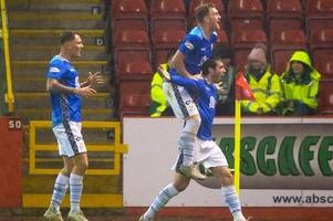 aberdeen 0 st johnstone 2: shaughnessy and alston secure the three points