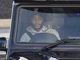 Police interview Raheem Sterling over 'racist attack' as he is seen leaving Manchester City training