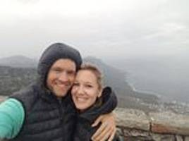 newlywed plunges 500ft to her death from a clifftop at a cape town picnic spot