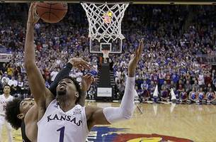 Lawson's double-double sparks KU to 63-60 win over New Mexico State