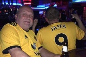 wolves fan flew via benidorm for newcastle united match because it was cheaper than taking the train!