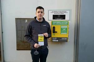 traffic warden slaps £70 fine on vehicle used by charity to install defibrillator outside sports direct