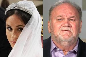 meghan markle's dad insists he was at her first wedding - and reveals shock party bag