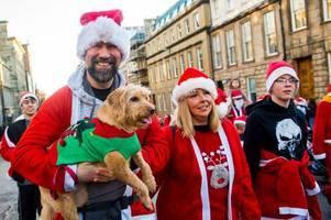 santa dash brings thousands to streets of glasgow for annual charity event