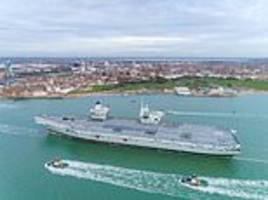 big lizzie's back for christmas! joy for families as sailors return home