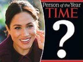 meghan markle up against trump and khashoggi for time person of the year
