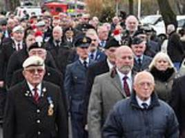 Hundreds turn out at funeral for World War Two pilot who had no family to mourn him when he died