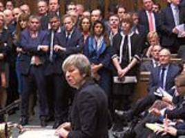 quentin letts watches theresa may announce her brexit crunch vote delay