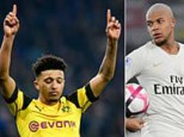 Jadon Sancho's transfer value has risen an incredible £70MILLION in just three months