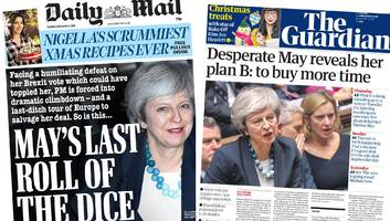 paper review: 'desperate' may's brexit rescue mission