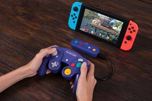 8bitdo's wireless adapter is the best way to use a gamecube controller with a switch